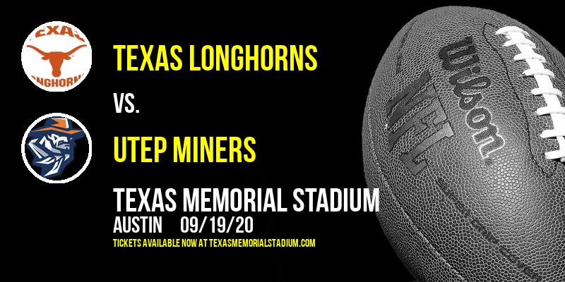 Texas Longhorns vs. UTEP Miners at Texas Memorial Stadium