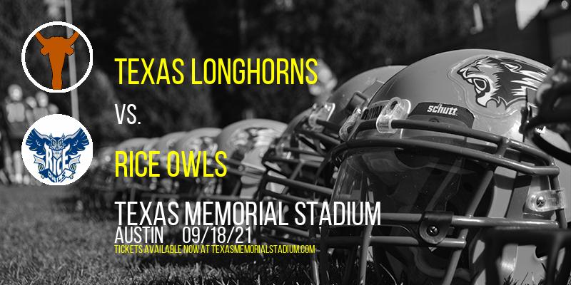 Texas Longhorns vs. Rice Owls at Texas Memorial Stadium