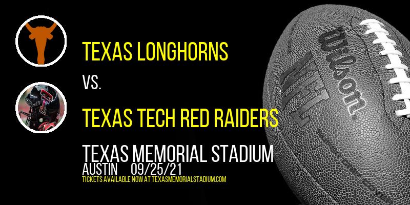 Texas Longhorns vs. Texas Tech Red Raiders at Texas Memorial Stadium